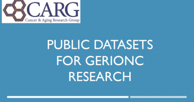 Public Datasets for GeriOnc Research